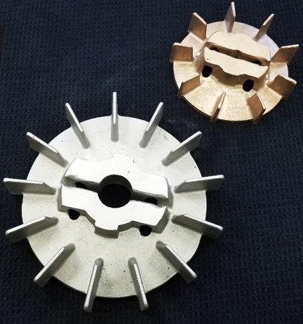 Motor/Generator Fan in Aluminum and Red Brass